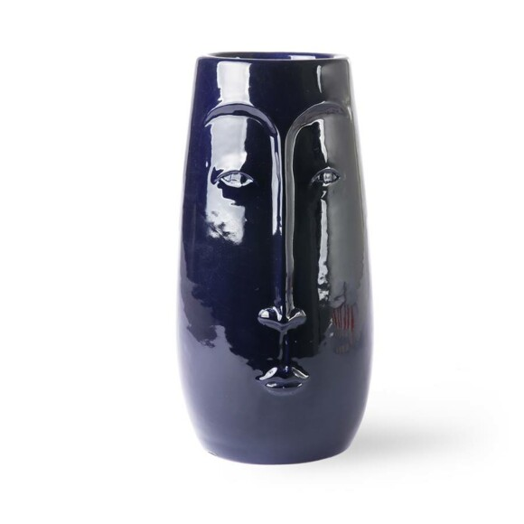 Face vase Azul || HK Living