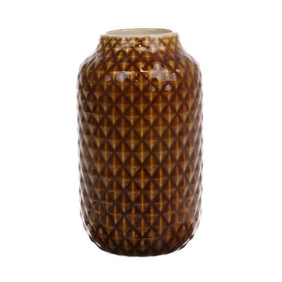 Ceramic vase brown glazed || HK Living
