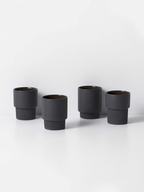 Groove cups ferm living espresso set
