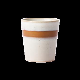 Ceramic 70's mug || Snow